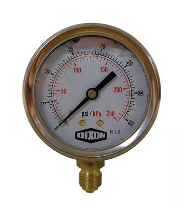 PG00085-DIXON, 86PSI(600KPA) P/GAUGE S/S, Dixon