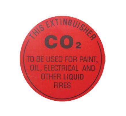 EXT-CO2SIGN-DIX, CO2 IDENTIFICATION SIGN, Dixon